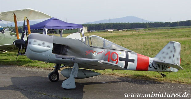 Focke-Wulf Fw 190 »Würger« fighter aircraft, reproduction in 1:2 scale