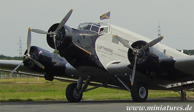 Junkers Ju 52/3m Trimotor aircraft of the German Lufthansa