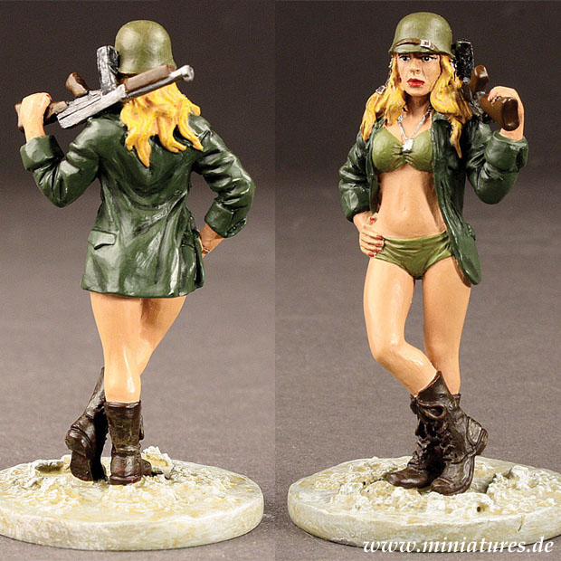 Babes in Arms: Army Babe «Loaded for Bare», 1:30 Scale Miniatures Historic Sales BIA001
