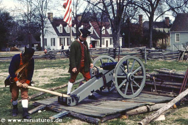 Continental Artillery at Williamsburg Virginia