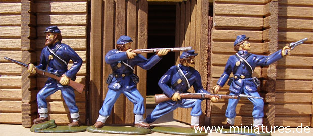 Union Infantry, 1:32 Miniatures Timpo / Toyway 43504
