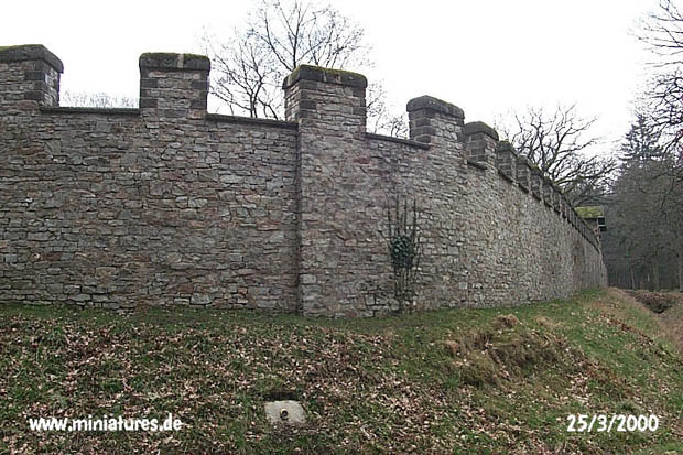 Corner of the left and rear castle walls