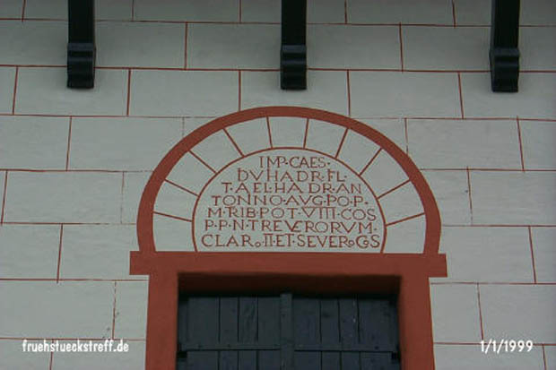 Inscription above the entrance