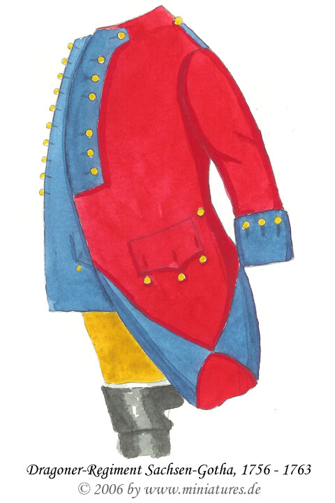 Austrian Dragoon Regiment Saxe-Gotha of the Seven Years' War, 1756–1763