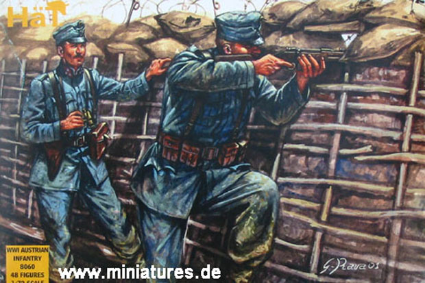 Austrian Infantry of World War One, 1:72 Miniatures HaT Industrie 8060