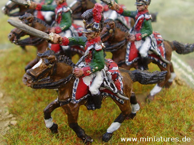 Bavarian 5. Chevaulegers-Regiment Leiningen, 1812, 1:72 Miniatures Hinton Hunt BB33