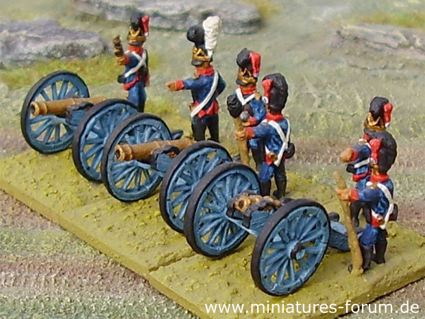 Bavarian Foot Artillery of the Napoleonic Wars, 1812–1815, 15 mm Heritage Miniatures