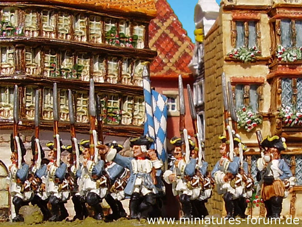 Bavarian Infantry Regiment Kurprinz in Bayern, 15 mm Miniatures Old Glory