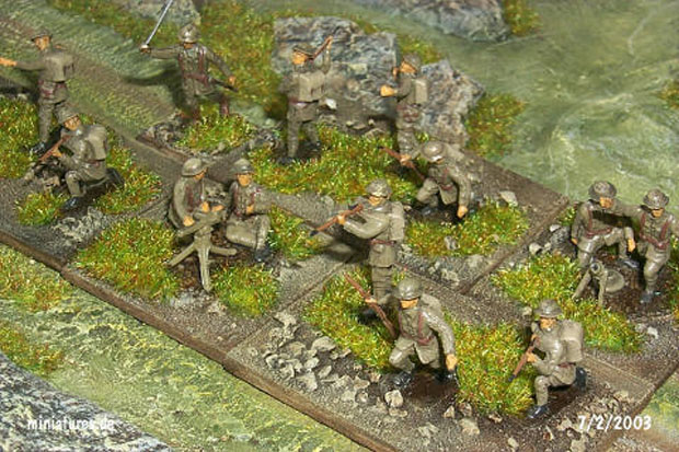 British Infantry Kitchener Battalions, 1916–1918, wearing the M.1916 steel helmet, 1:76 Airfix 01727 Conversions