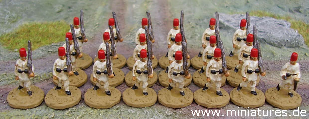 An Egyptian infantry platoon for The Sword and the Flame (TSATF)