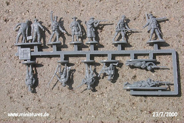 British Infantry and Tank Crew, World War One 1916–1918, 1:72 Miniatures EMHAR 7201