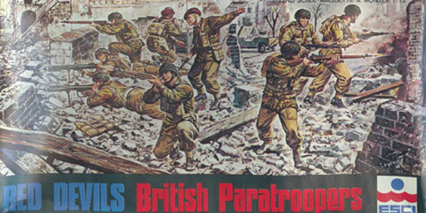 British Paratroops, 1944, 1:72 Miniatures ESCI 8034