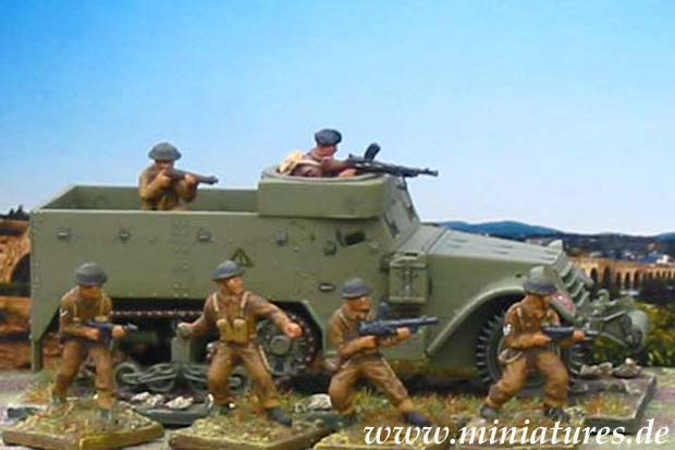 M5A1 Half-Track and infantry of the 1st Motor Battalion, Grenadier Guards
