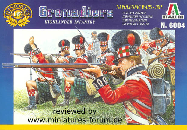 British 42nd (Royal Highland) Regiment Flank Company, 1808–1815, 1:72 Italeri Miniatures 6004