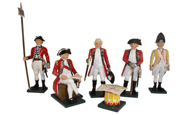 British Generals of the American Revolutionary War, 1775–1783, 54 mm Miniatures Tradition of London 201
