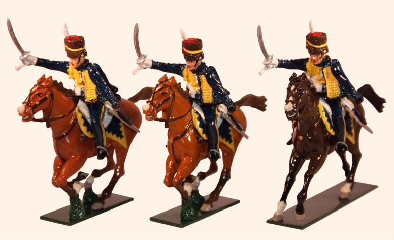 Troopers of the 7th (Queen's Own) Hussars of the Napoleonic Wars, 1803–1815, 54 mm Miniatures Tradition of London 760