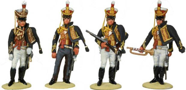 British Napoleonic 10th Hussars, 1812–1815, 54 mm Miniatures Tradition of London