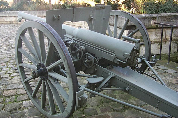 French 75 mm L.36.3 Field Gun MLE 1897 of World War One, 1914–1918