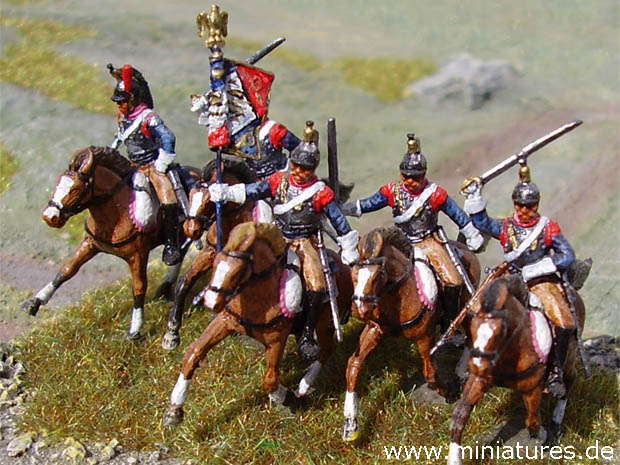French Cuirassiers of the Napoleonic War, 1812–1815
