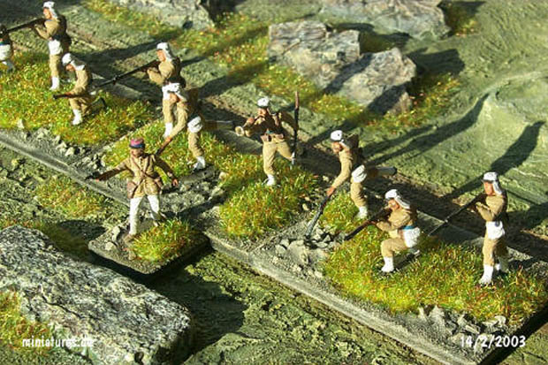 French Foreign Legion infantry in shirt-sleeve order, 1886–1927, 1:72 Miniatures ESCI P-237