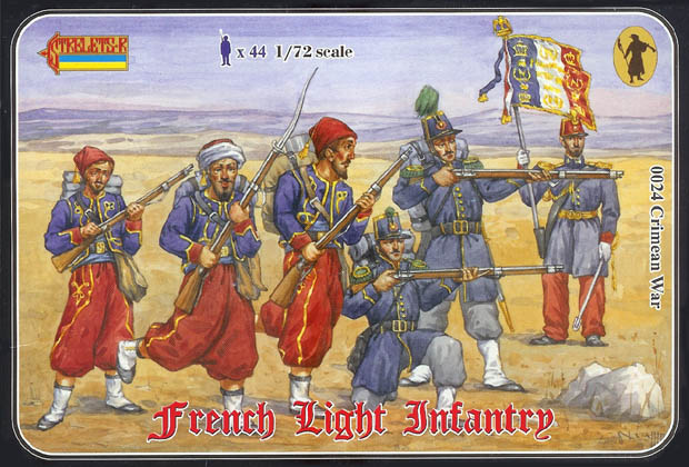 French Zouaves and light infantry of the Crimean War, 1:72 Miniatures Strelets 024