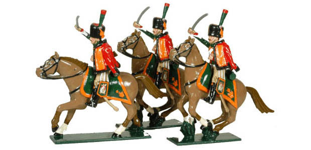 French Imperial Guard Chasseurs à Cheval, 1804– 1815, 54 mm Toy Soldiers Tradition of London 759