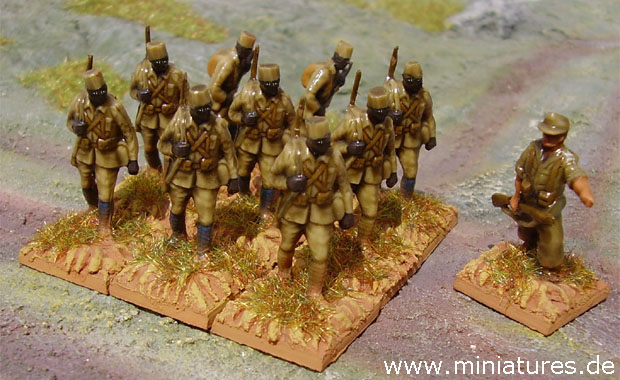 Askaris of the Schutztruppe for German East Africa, 1914–1918, 1:76 Airfix Miniatures Conversions