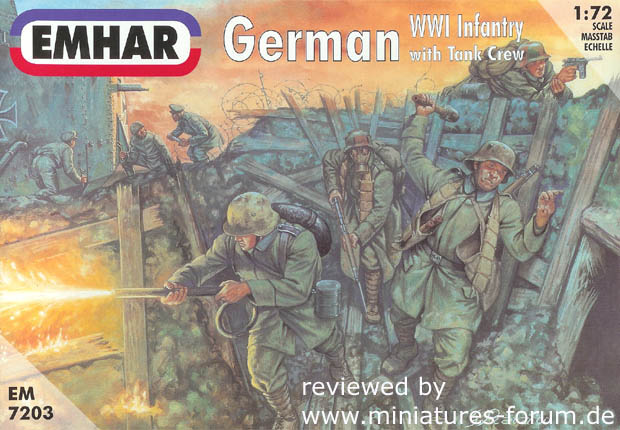 German Infantry and Tank Crew 1916-1919, World War One 1916–1919, 1:72 Miniatures EMHAR 7203