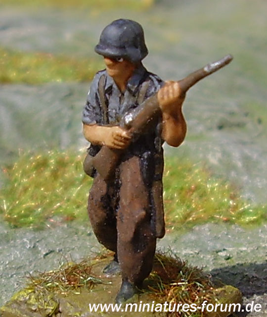 German soldier, advancing