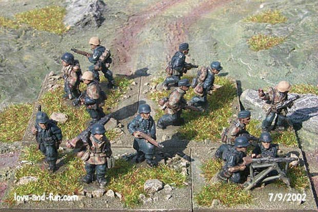 German Infantry of World War Two, 20 mm Miniatures Platoon 20