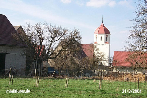 View of Jungingen church from the southside of the village