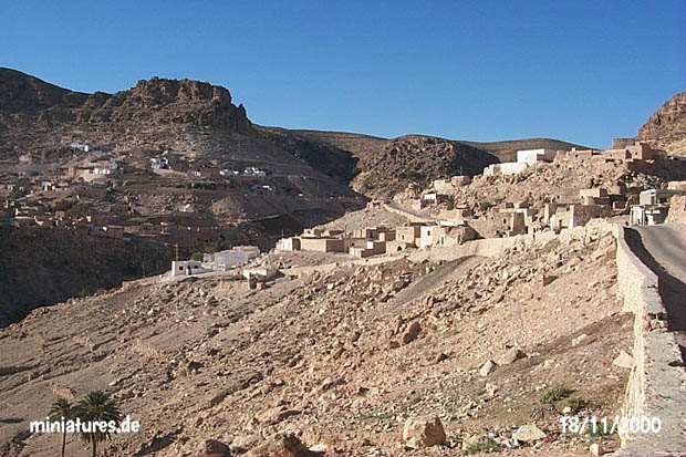 The town of Toujane in the Matmata Mountains