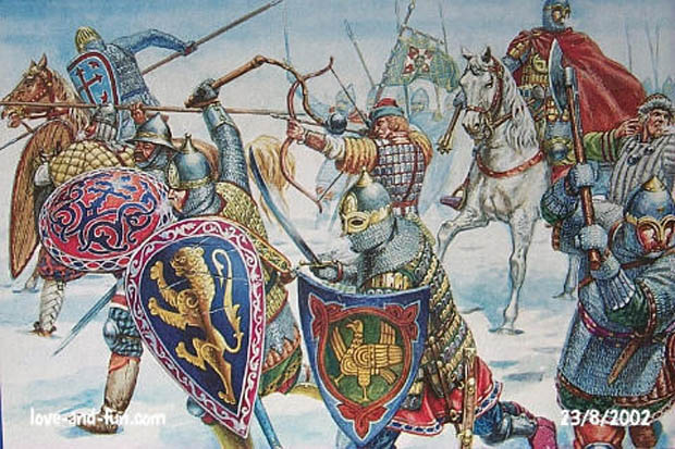 Italeri's Russian Knights may be used to recreate elements of DBA Army 157 – Post-Mongol Russian