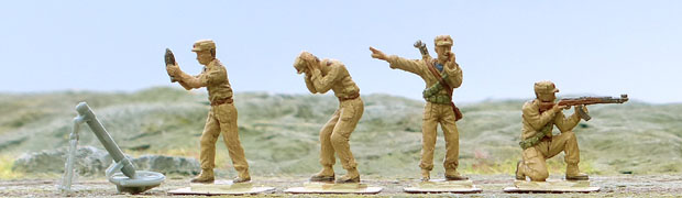 Infantry of the Korean People's Army in the Korean War, 1950–1953, 1:72 miniatures IMEX 532