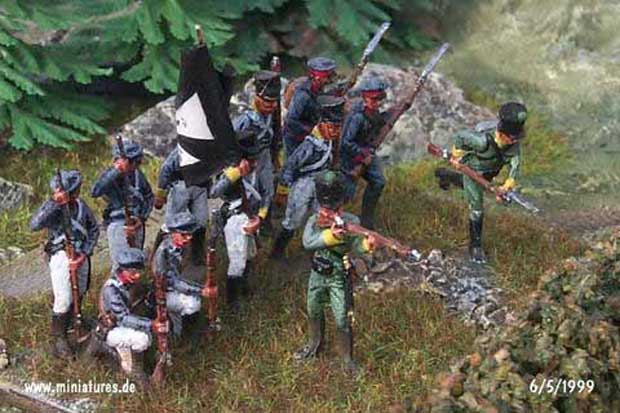 18th (1st Westphalian) Infanterie-Regiment using 1:72 scale ESCI Russian Grenadiers