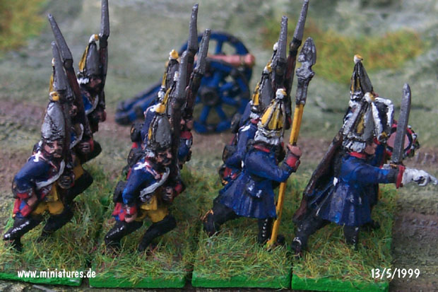 Prussian Regiment Garde (Nr. 15), III. Bataillon, 15 mm Miniatures Old Glory