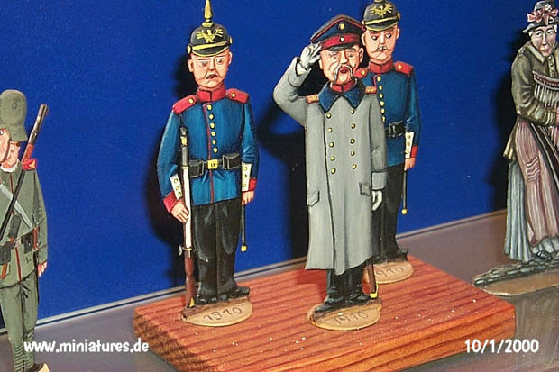 Flat miniatures: Prussian infantry 1910
