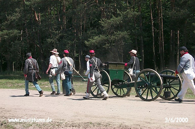 Confederate Staunton Artillery at the reenactment of the Battle of Five Forks