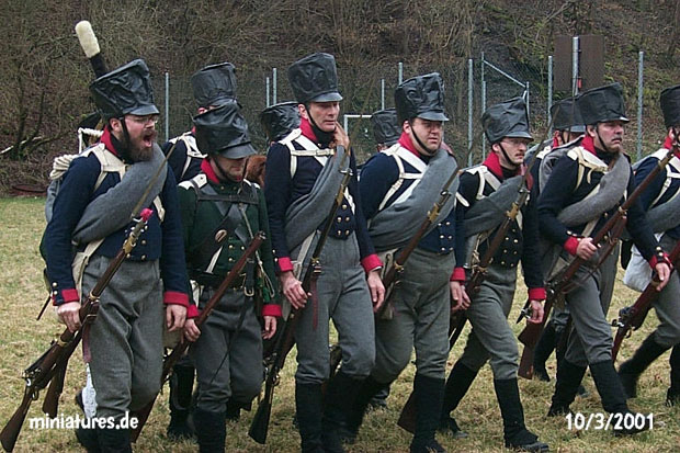 Unusual, but typically Prussian drill for the final phase of a bayonet charge