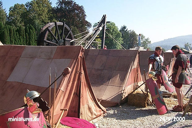 Leather tents of the I. Cohort