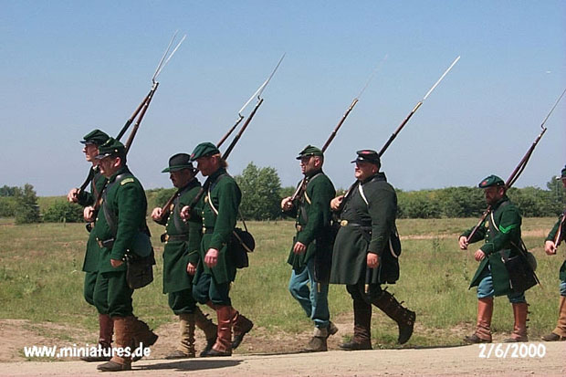US Sharpshooters marching
