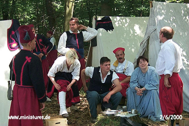 Union Zouaves in camp