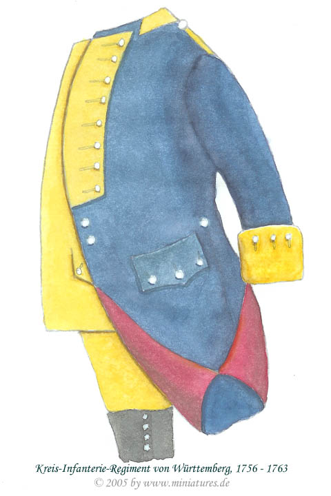 Suabian Füsilier-Regiment von Württemberg of the Seven Years' War, 1756–1763