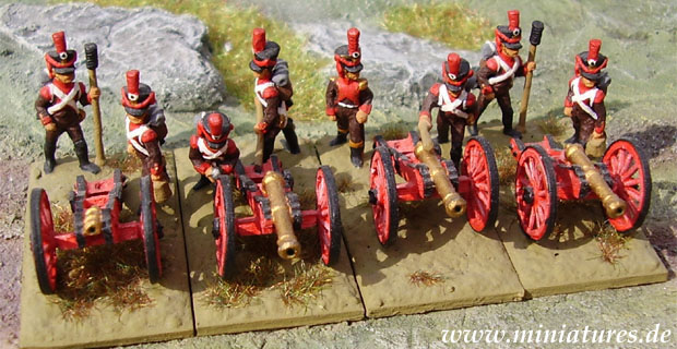 Würzburg Napoleonic Artillery, 1807–1813, 15 mm Miniatures Minifigs