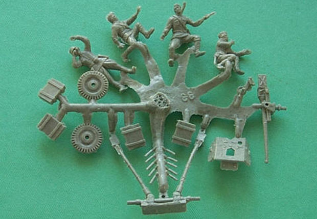 Soviet 45 mm PTP Anti-Tank Gun M.1937, 1:72 adm 7033