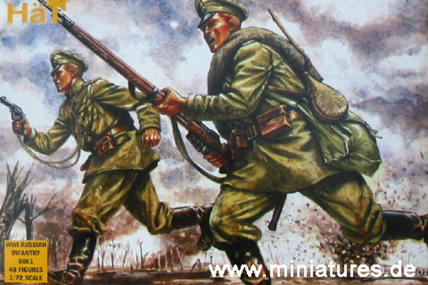 Russian Infantry of World War One, 1:72 Miniatures HaT Industrie 8061