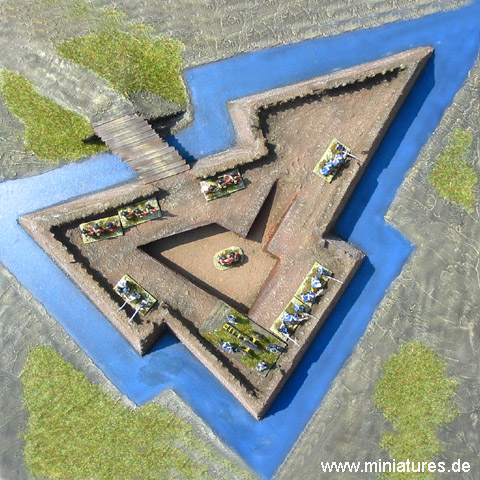 Polygonal Redoubt for Renaissance and Seven Years' War Wargames