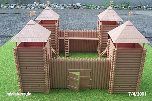 Russian Fort 12th to 17th Century, 1:72 Model Kit ZVEZDA 8501