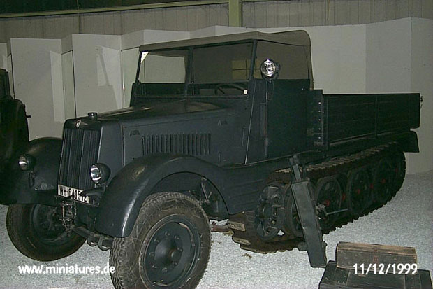 Sd.Kfz. 11 with wooden truck-type body