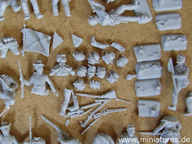 Brittling and Disintegration of Italeri's 1:72 Scale Confederate Infantry